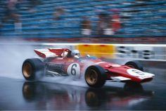 Ferrari Friday … spray it Mario Andretti, Ferrari 312B, 1970 Monaco Grand Prix