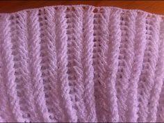 Punto fantasia bello tejido a crochet relieve / Point fantaisie relief crochet - YouTube