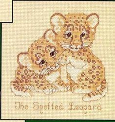 Solo Patrones Punto Cruz 1/2 The Spotted Leopard