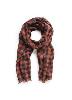 NEW - Check bicolor scarf #FW14 #KIDS #BOYS