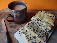 saffron loaf cake with a large mug of tea | @hisforhome #recipe