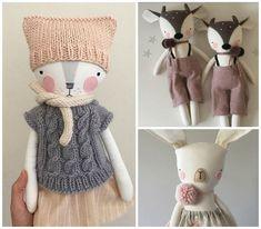 Luckyjuju Softies, Handmade Baby Gifts, Handmade Toys, Sock Dolls, Doll Toys, Diy Teddy Bear, Animal Gato, Friend Crafts, Fabric Animals