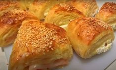 Food Network Recipes, Cooking Recipes, The Kitchen Food Network, Cheese Snacks, Calzone, Greek Recipes, Bagel, Food And Drink, Pizza