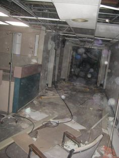 Abandoned hospital (Look at all those orbs! Lingering spirits?)