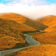 Crown Range Road between Arrowtown and Wanaka, South Island, New Zealand. My favourite road in the world.