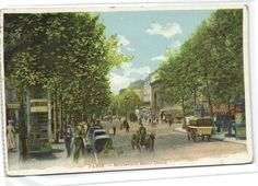 1 postcard France dep 75 Paris Boulevard d Saint Denis