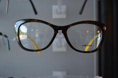 You can't go wrong with yellow temples 😎🐝 #opsin #eyecare #opsineyecare #prada #frames #pradaframes