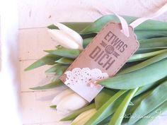 Anhänger, Tag, fresh Flowers, Tulpen, Spring, Vintage, romantisch, www.samey-atelierfarbstil.blogspot.de