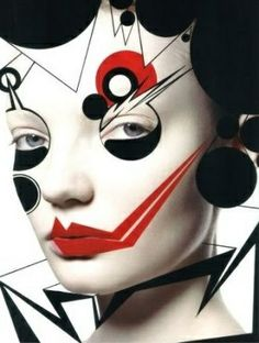 The fine art of makeup Alex Box is an unconventional makeup artist whose amazing creations have adorned the faces of models for Karl Lagerfe. Alex Box, Make Up Art, How To Make, Photoshop Art, Arte Fashion, Style Fashion, Fashion Design, Art Visage, Fantasy Make Up