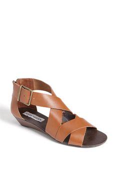 Steve Madden 'Karroll' Sandal in Cognac Leather $79.95