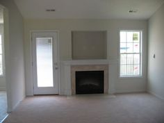 Before After Mantel Covering The Tv Niche Above The