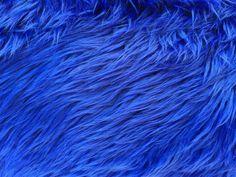 Royal Blue Luxury Long Pile Shaggy Faux Fur Fabric