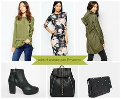 winter fashion to shop in summer  #asos #parka #dress #bags #shoes  #print #winter #sales