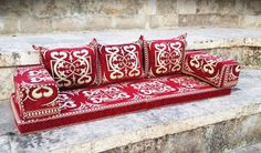 Floor seating floor cushion kilim pillow by MysticalAnatolia Floor Couch, Floor Cushions, Wooden Dining Table Set, Pastel Room, Floor Seating, Wool Area Rugs, Kilim Pillows, Rugs On Carpet, Flooring