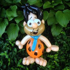 Day 305: Yabba Dabba Doo! (Fred #Flintstones) #Balloons #BalloonAnimals