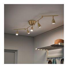 BAROMETER Ceiling track, 5-spots, brass color brass color -