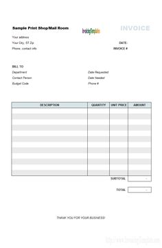 architect invoicing sample print shop billing format invoice template