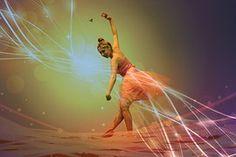 Bailarina, Rosa, Magia, Dança