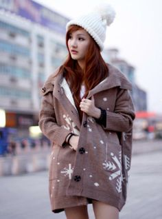 Type:SweatersStyle:CasualSleeve Length:Long SleeveNeckline:HoodedColor:BrownMaterial:Cotton Available:ONE SIZE Sweater Scarf, Loose Sweater, Brown Sweater, Batwing Sleeve, Winter Wardrobe, Dress To Impress, Hoods, Your Style, Winter Jackets