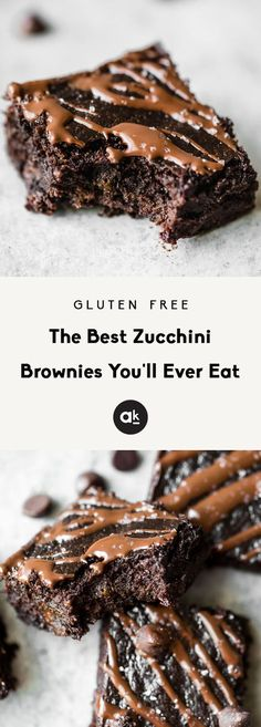 The BEST zucchini brownies you'll ever eat are gluten free, deliciously fudgy, and the perfect way to bake with zucchini. Top them with fancy sea salt to make them extra special! #baking #chocolate #zucchini #glutenfree #dessert #dessertrecipes