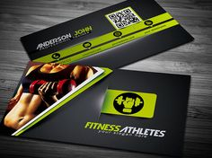 Gym Fitness Business Card Template by GraphicDiamonds on Creative Market
