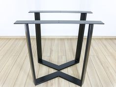 Steel Dining Table Legs (set of 2), Industrial Style Table Legs, Trapezoid Table Leg, Modern Table Legs, Metal Legs for Reclaimed Wood Table Kitchen Table Legs, Steel Dining Table, Steel Table Legs, Dining Table Legs, Glass Dining Table, Dining Room, Modern Table Legs, Industrial Table Legs, Industrial Style