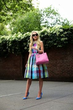 gingham | summer style | summer dress | colorful