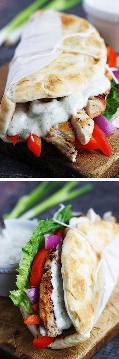 Easy Chicken Gyros & Tzatziki Sauce #easy #chicken #gyros