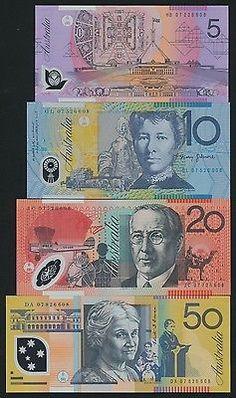 Australia 2007 $5 $10 $20 $50 Stevens-Henry Last Prefix UNC RARE! Folding Money, Prefixes, Banknote, Banks, Coins, Australia, World, Paper, Collection