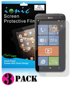 CrazyOnDigital Screen Protector Film Invisible (Clear) for HTC Titan 2 II (3-pack) by CrazyOnDigital. $2.85. Designed specifically for HTC Titan 2 IIFully shield & Protect your device's LCD screen against dust, scratches, fingerprints and eliminate glare. Ultra Thin, Durable and Optically Clear Protector provides seemless protection. Protecor is washable and reusable. includes free cleaning cloth.IMPORTANT NOTE: Please do not install you new screen protector in a ...