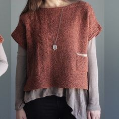 Elizabeth Smith Alanis Pullover Kit – Knitting patterns, knitting designs, knitting for beginners. Elizabeth Smith, Knit Vest Pattern, Knitting Patterns, Knit Poncho, Brooklyn Tweed, Look Rock, Cozy Fashion, Loom Knitting, Knitting Designs