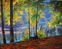 River Bank Tumut, nsw by Graham Gercken