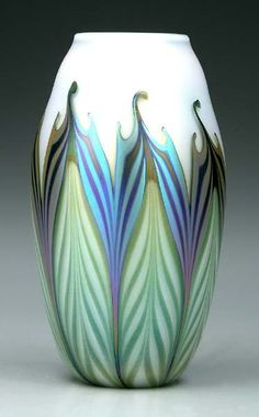 Charles Lotton art glass vase