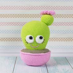 The Blooming Cactus Amigurumi Pattern has been made to bring smiles to you and the people around you. This adorable green creature will be a nice decoration for your car or desktop, or cute helpful pincushion! Follow our cactus crochet pattern, don't forget to pin your favorite pictures!