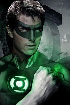ArtStation - Tom Cruise as Green Lantern, Jessica Perez Green Lantern Characters, Green Lantern Movie, Green Lantern Comics, Green Lantern Hal Jordan, Green Lanterns, Comic Book Superheroes, Z Cam, Cool Masks, Dc Comics Characters