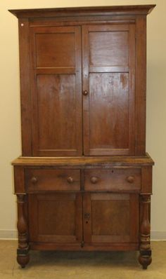 Antique Jackson Press Southern Kentucky Stepback Cupboard 19thC 85h47w20d Shipping is NOT FREE!