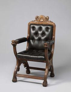 "Armchair, Augustus Welby Northmore Pugin, c. 1840, See ""Pugin: Master of Gothic Revival"" cat 29"
