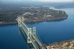 The Tacoma Narrows bridge- from Tacoma (bottom of picture) to Gig Harbor (top of picture)