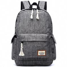 Cheap Leisure Girl's Waterproof Oxford Cloth Simple Style Whole Color Large School Backpack Travel Backpack For Big Sale!Leisure Girl's Waterproof Oxford Cloth Simple Style Whole Color Large School Backpack Travel Backpack Retro Backpack, Backpack For Teens, Black Backpack, Travel Backpack, Fashion Backpack, Backpack Brands, Backpack Essentials, College Essentials, Canvas Backpack