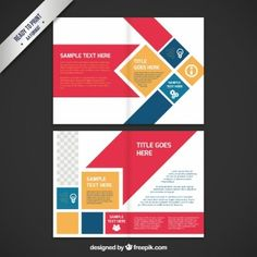 plantilla de tríptico para descarga diseño gráfico pinterest