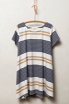 Swingstripe Tee in Neutral Motif - anthropologie.com | Size Medium