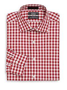 0f90a321fb42 Slim-Fit Gingham Two-Ply Cotton Dress Shirt · Cotton DressesDress  ShirtsMen s ...