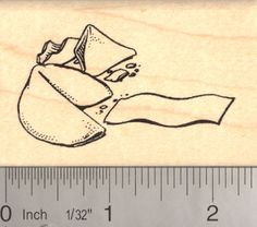 Chinese Fortune Cookie Rubber Stamp (H13816) $10 at RubberHedgehog.com