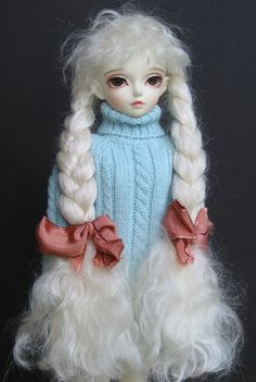 Hard-cap mohair wig with braids for MSD | Flickr - Photo Sharing!