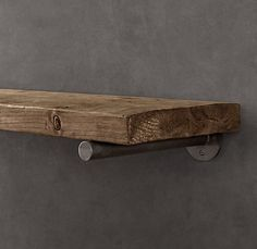 love the idea of these rustic shelves above a toilet
