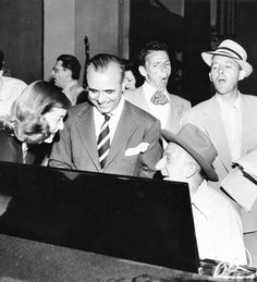 Frank Sinatra, Bing Crosby, Jimmy Durante, Bette Davis and I think that's Jose Iturbi.