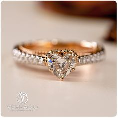 I heart you! #verragio #theringofmydreams Verragio Engagement Rings, Dream Engagement Rings, Heart Wedding Rings, Heart Ring, Bridal Rings, Wedding Bands, Diamond Solitaire Necklace, Diamond Bands, Love Ring