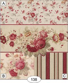 Roses in Bloom - Antique Red