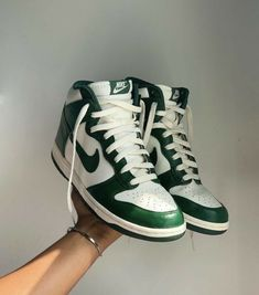 Blessing those who sort by new w these Nike dunk high gorge greens 🌊 Sneaker Outfits, Converse Sneaker, Puma Sneaker, High Heels Boots, Shoes Heels, Pumps, Sneakers Mode, Sneakers Fashion, Adidas Fashion