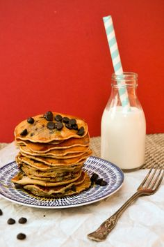 The BEST EVER vegan chocolate chip pancakes. So easy to make and no odd ingredients. You can make them in minutes and they taste great. Great for vegan and dairy free diets. Go on rock pancake day.